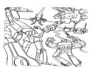 Print transformers Its war time a4 coloring pages