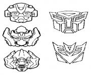 Printable transformers Masks a4 coloring pages
