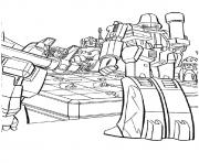 transformers Planning a war a4 coloring pages