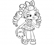 Printable Shopkins Shoppies Doll coloring pages