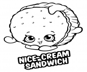 Nice Cream Sandwich coloring pages