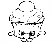Printable Bubble Cupcake shopkins season 6 coloring pages