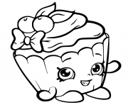 Printable Cherry Nice Cupcake from shopkins season 6 coloring pages