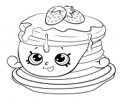 Printable Ultra Rare Strawberry Pancake shopkins season 6 coloring pages