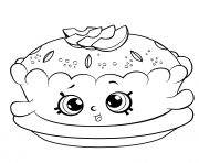 Printable shopkins season 6 Apple Pie coloring pages