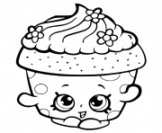 Printable shopkins season 6 Cupcake Petal coloring pages