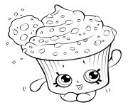 Amazing Cupcake For Kids Shopkins Season 5 Coloring Pages