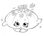 Printable Cute Fruit Jello shopkins season 5 coloring pages