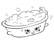 Printable Bathtub shopkins season 5 coloring pages