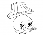 Printable Cartoon Lamp shopkins season 5 coloring pages