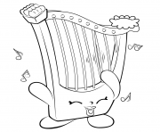 Printable Harp Musical Instrument shopkins season 5 coloring pages