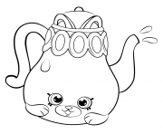 Printable Petkins Tea Pot from Season 5 shopkins season 5 coloring pages