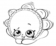 Printable Tambourine from Shopkins shopkins season 5 coloring pages