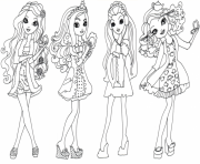 Print Ever After High 1 coloring pages