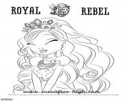 Print Ever After High Royal Revel Cute coloring pages