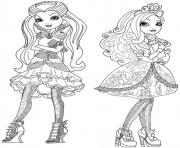Printable Ever After High dolls 6 coloring pages