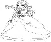 Print apple white thronecoming ever after high doll coloring pages
