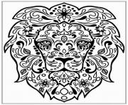 Printable Adult Lion Zen coloring pages