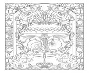 Printable art anti stress adult nature zen coloring pages
