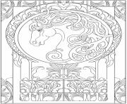 Printable art animal horse zen adults coloring pages