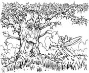 Printable adult for adults arbre coloring pages