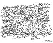 Printable adult drawing flower coloring pages
