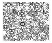 Printable adult difficult flowers coloring pages
