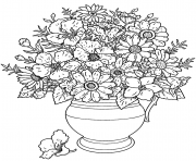 Printable adult flowers bouquet coloring pages