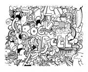 Printable adult doodle art doodling 8 coloring pages