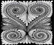 Printable adult leave optical illusion coloring pages