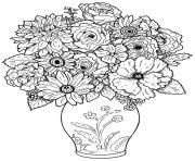 Printable adult difficult bouquet coloring pages