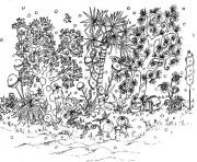 Printable adult garden coloring pages