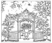 Printable adult kiosk guarden coloring pages