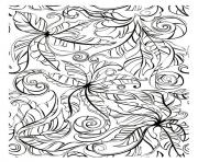 Printable adult leaves coloring pages