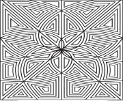 Printable adult zen anti stress maze zen flowers  coloring pages