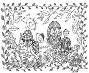 adult zen anti stress easter eggs by leen margot  coloring pages