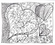 Printable adult zen anti stress heart zen  coloring pages