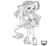Printable monster high jinafire long coloring pages