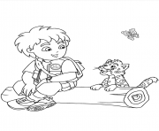 diego and jaguar se7ef coloring pages