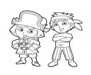 Print dora diego coloring pages