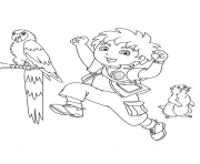go diego s for kids 627f coloring pages