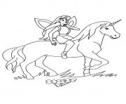 Printable Fairy And Unicorn unicorn coloring pages