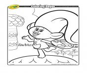 Printable trollArtist trolls coloring pages
