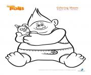Printable biggie and mr dinkles trolls coloring pages