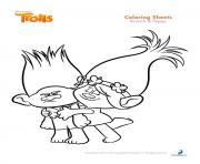 Branch And Poppy Trolls Coloring Pages