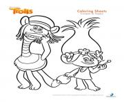 Printable cooper and poppy trolls coloring pages