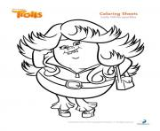 Printable lady glittersparkles trolls coloring pages