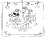 Printable Trolls Dazzle Pixie coloring pages
