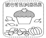 Print November for kids coloring pages