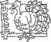Print Free Turkey coloring pages